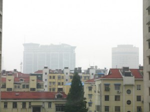 Another hazy day in Nanjing...