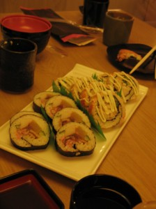 Two types of specialty rolls.