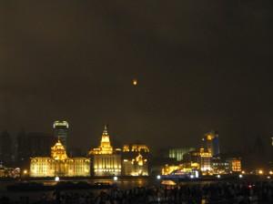A lone lantern over Shanghai.