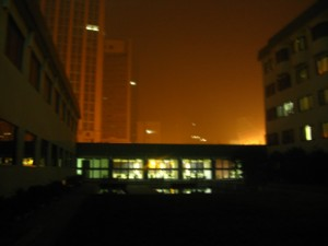 Taken tonight...see all that foggy stuff? That's pollution!