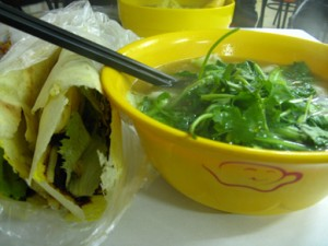 Dinner from a few nights ago...awesome awesome wonton soup!