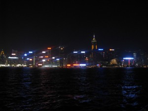 That famous Kowloon nightime shoreline!