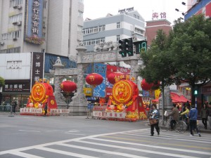 Shizi Qiao all decked out for Chinese New Year!